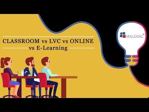 CLASSROOM vs LVC vs ONLINE vs ELearning @ SKILLOGIC®