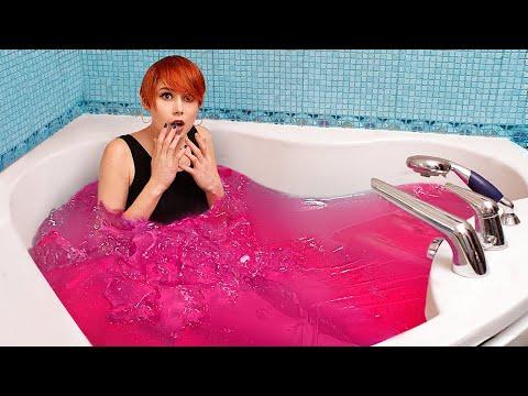 Целая ванна желе / Желейный челлендж