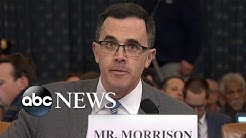 Tim Morrison delivers opening statement at House impeachment hearing | ABC News