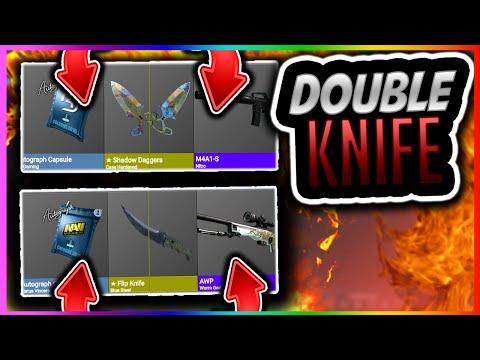 CSGO BETTING: DOUBLE KNIFE OPENING!! CSGOHouse Case Opening (CS GO Gambling Knife Win)