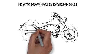 How to draw Harley Davidson Bike