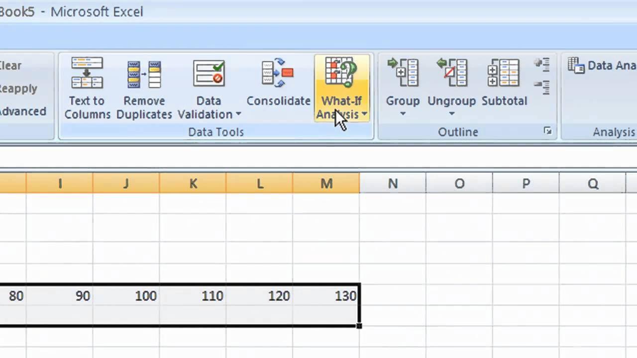 Sensitive Analysis on Excel - YouTube