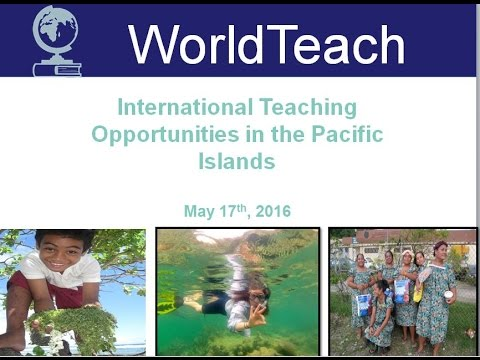 WorldTeach Webinar: Living and Teaching in American Samoa, The Marshall Islands and Micronesia