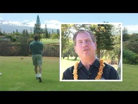 Golf at Pukalani Country Club, Maui, Hawaii
