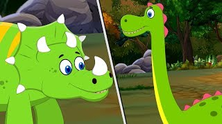 SuperCars and Team rescue Little Dinosaurs | Kids Car Cartoon Songs