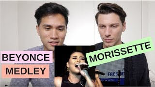 REACTION MORISSETTE AMON - BEYONCE MEDLEY | SWEET DREAMS | DANGEROUSLY IN LOVE | SWEET LOVE