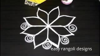 Easy free hand rangoli kolam designs || latest beautiful muggulu patterns