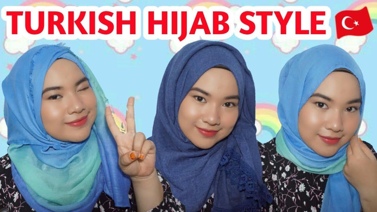 3 Tutorial Pashmina Ala Wanita Turki Turkish Hijab Styles Anandyaputriv Youtube