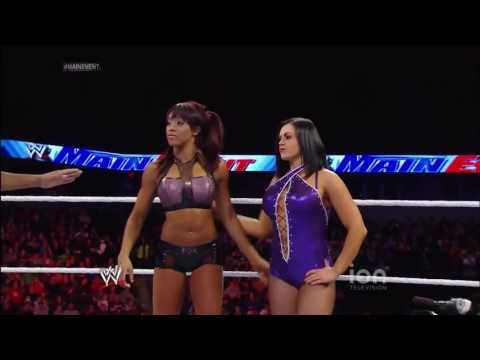 (720pHD): WWE Main Event 01.22.14: The Bella Twins vs Aksana & Alicia Fox