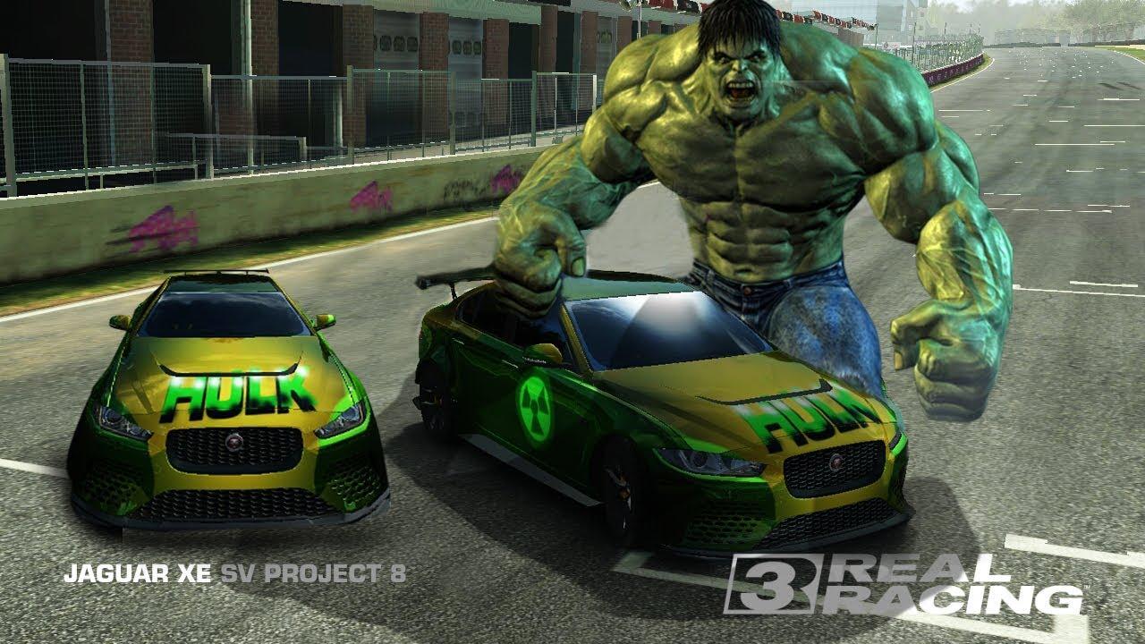 Real racing 3 tutorial modif vinyl jaguar xe hulk