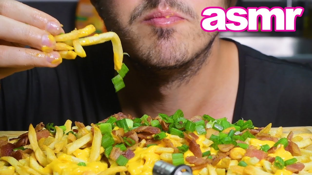Asmr Best Bacon Cheese Fries Crunchy Eating Sounds Messy Eating Nomnomsammieboy