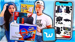 BUYING VIDEO GAMES OFF WISH APP WITH MY SISTER!!