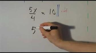 Nimittäjä yhtälössä