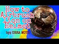 How to design helmet using Airbrush