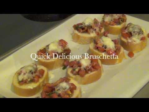 Quick, Delicious Bruschetta! Recipe & How-To