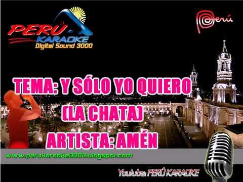 LA CHATA karaoke AMÉN