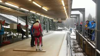 Skeleton sport. ICC 2016/2017 (Igls). Best start pushes