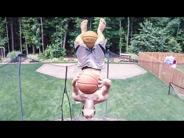 Two flips Two basketballs One incredible trick shot