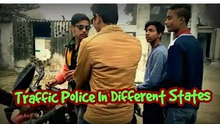 Traffic police in different states