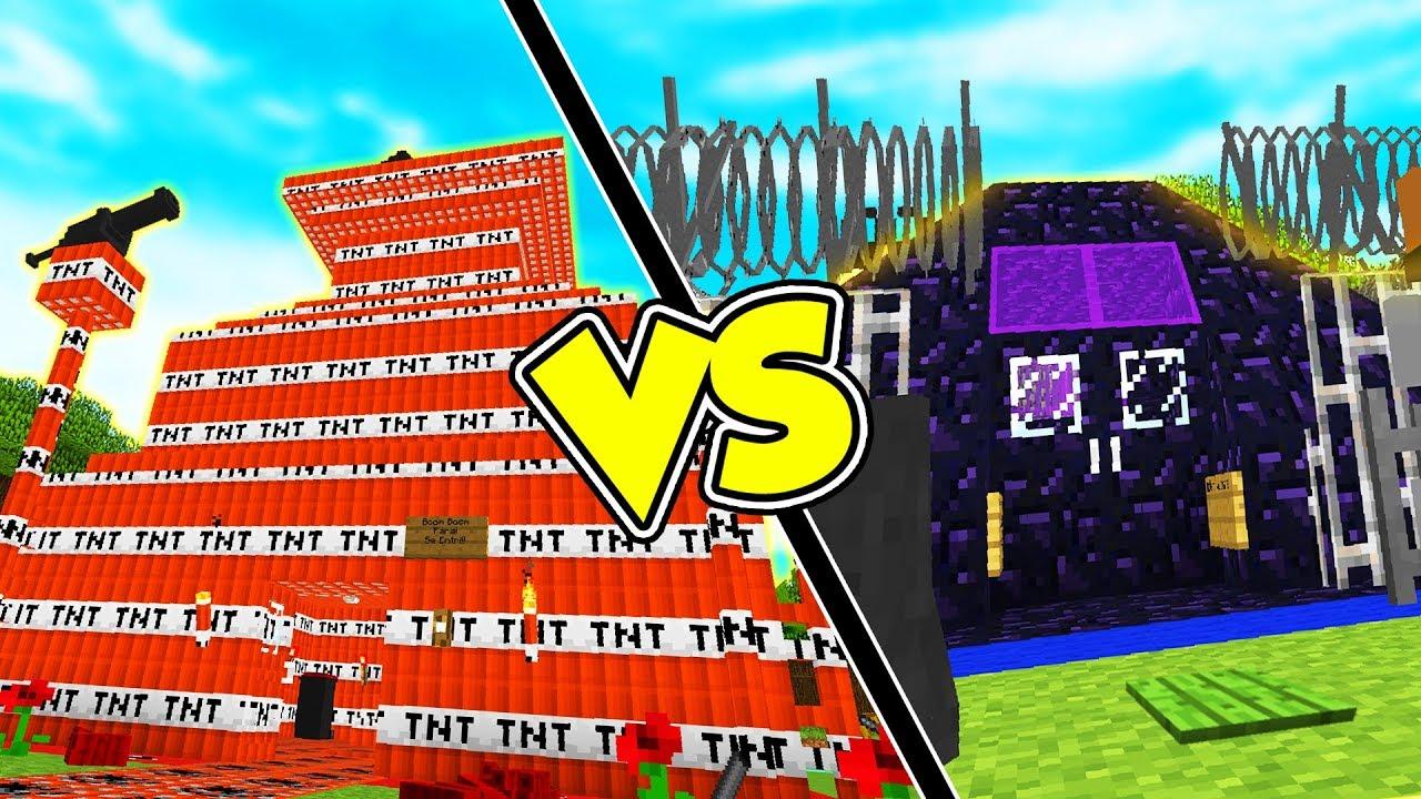 Casa di tnt vs casa bunker case pazze su minecraft doovi for Case pazze
