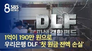 1억이 190만 원으로…우리은행 DLF '첫 원금 전액 손실' / SBS