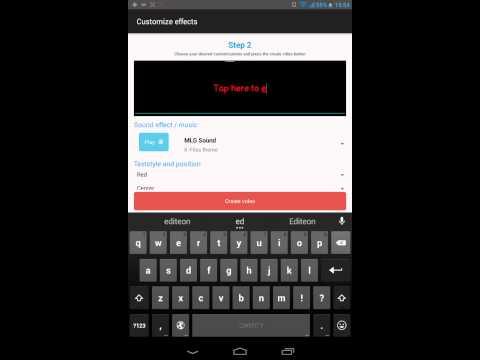 Видео урок как делать MLG монтаж видео на андроид