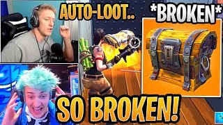 "Ninja and Tfue Explain How *BROKEN* ""AUTO-LOOT"" is! - Fortnite Best and Funny Moments"