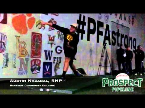 Austin Nazabal, RHP, Barstow Community College, Pitching Mechanics at 200 FPS