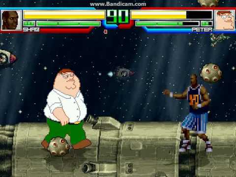 MUGEN battle #25: Shaq O'Neal vs Peter Griffin