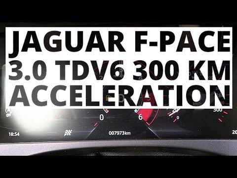 Jaguar F-Pace 3.0 TDV6 300 hp (AT) - acceleration 0-100 km/h
