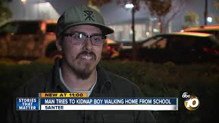 Man tries to kidnap boy walking home from school