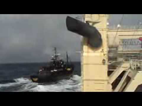 Sea Shepherd attacking Japanese whaling vessel 3