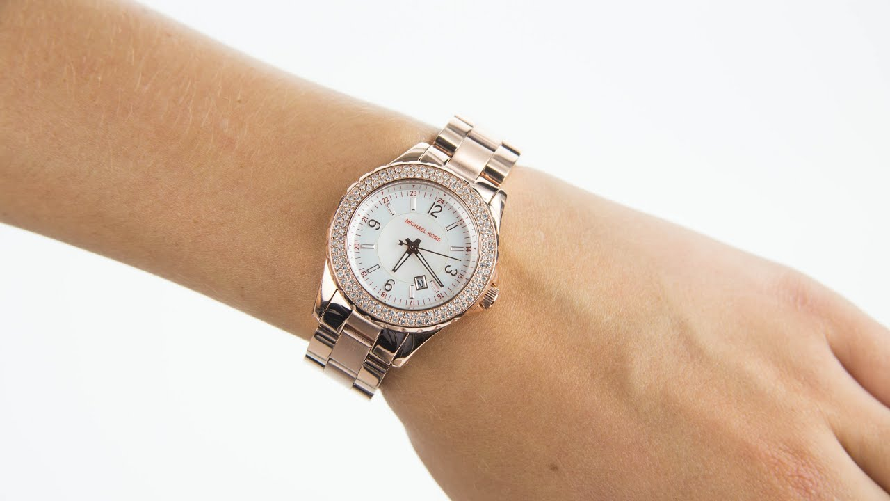 077fc5ad883d Michael Kors Ladies Gold Tone Bracelet Watch MK5403 - YouTube