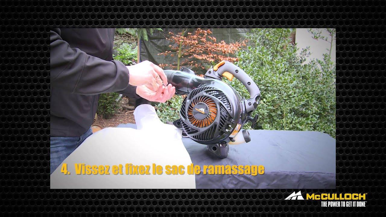 Mcculloch how to transformation du souffleur en aspirateur - Souffleur mc culloch ...