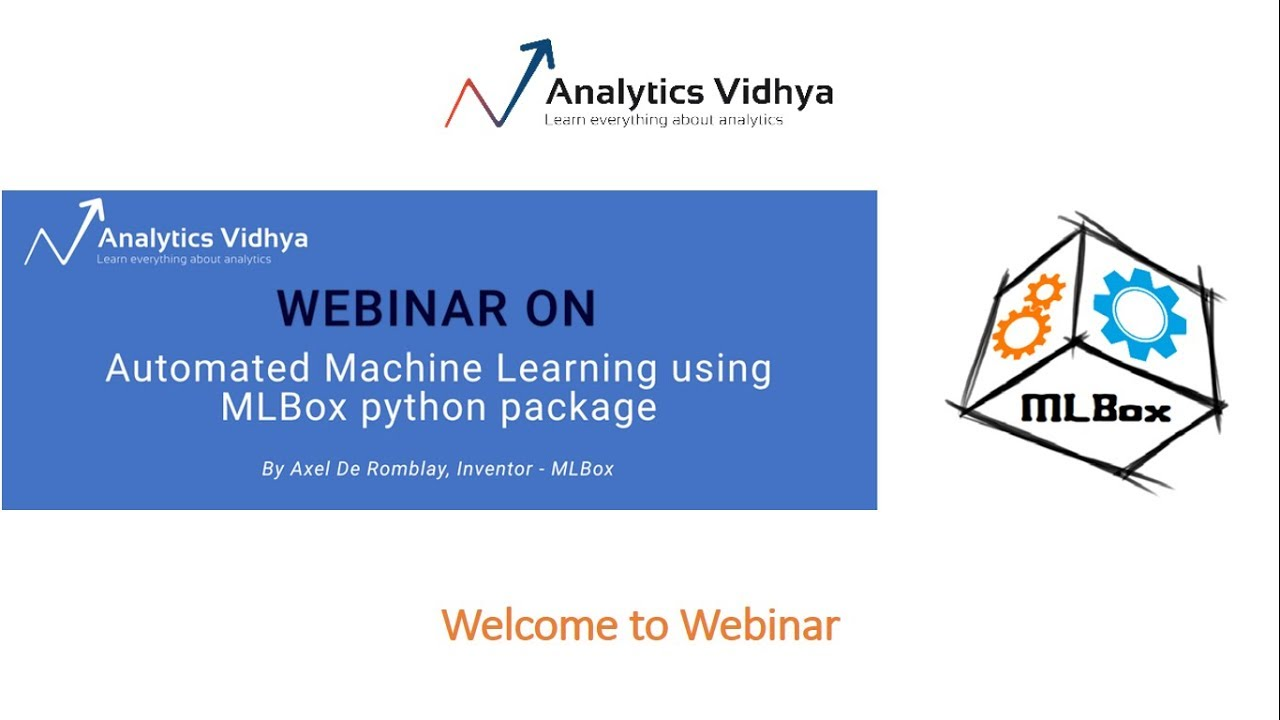 Webinar on Automated Machine Learning using MLBox Python Package, by Axel  De Romblay