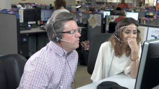 Chuck Harris Visits Call Center