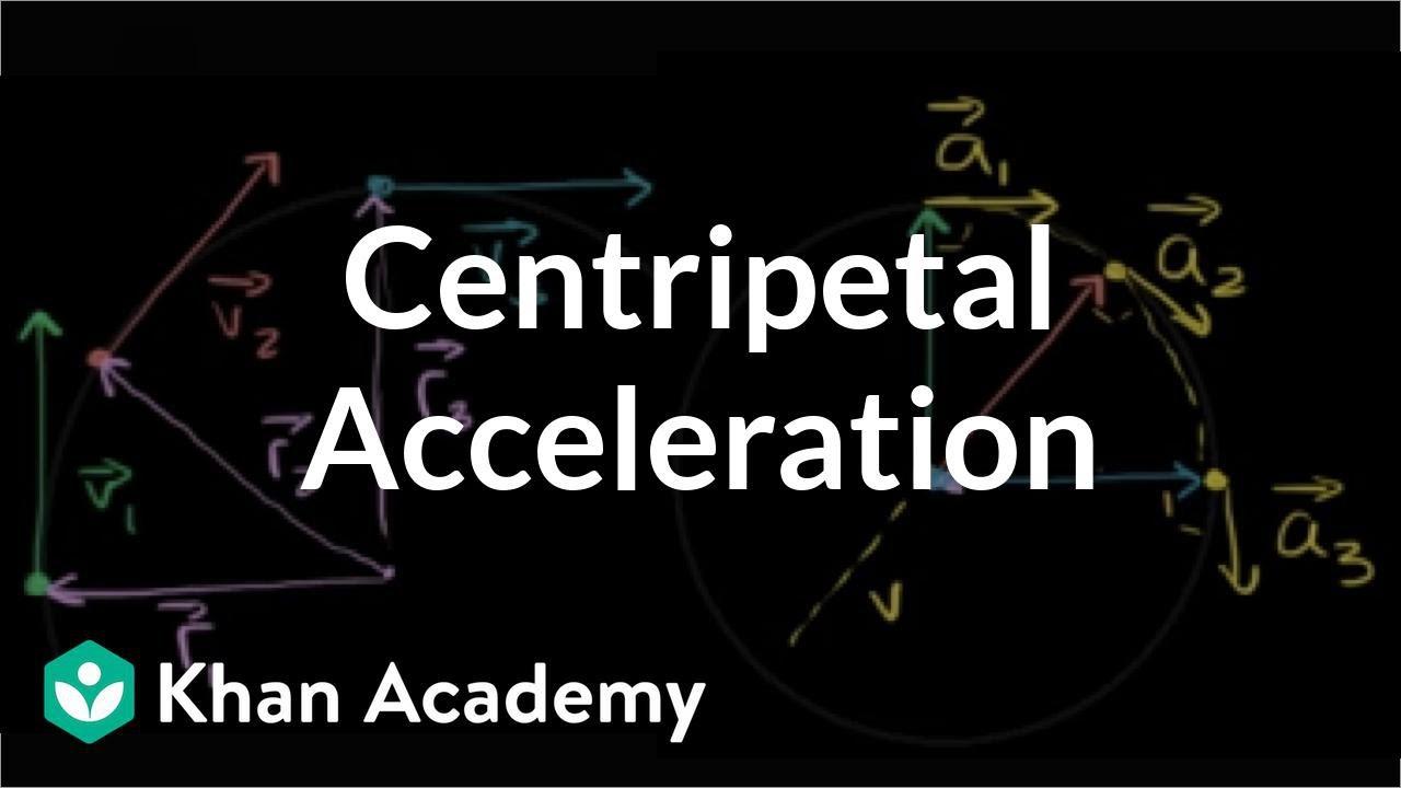 Visual understanding of centripetal acceleration formula