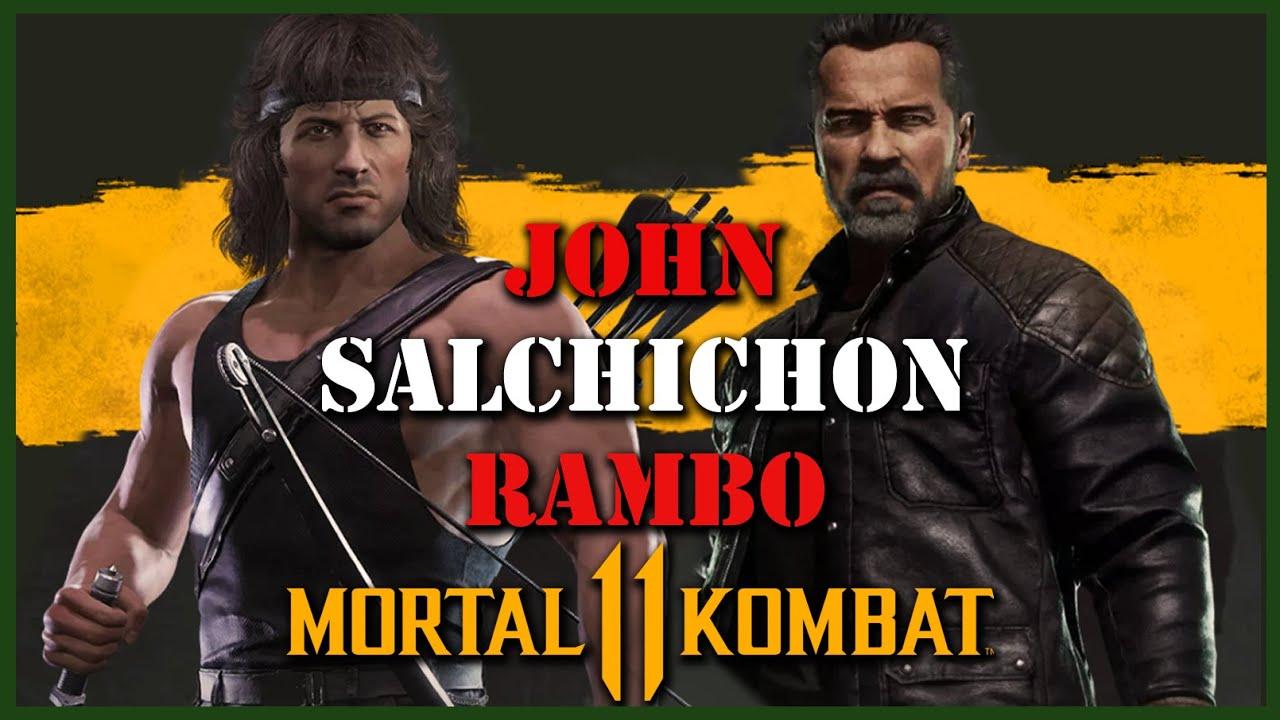 EL BANANERO - JOHN SALCHICHON RAMBO MK11 ULTIMATE ( Mortal Kombat 11 Pack 2 TRAILER )