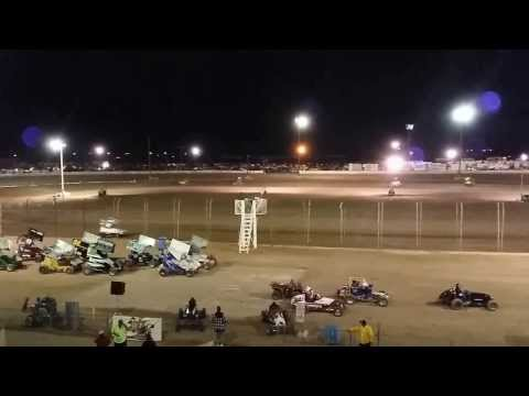 URA Quarter Mile Dirt Sprint Cars Imperial Valley Fairgrounds - March 8, 2014