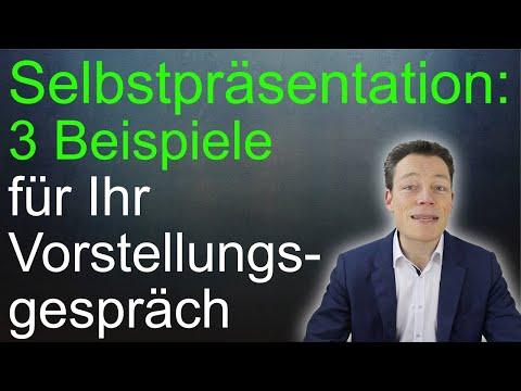 Selbstpräsentation, 3 Beispiele für Ihr Vorstellungsgespräch (Selbstpräsentation) // M. Wehrle