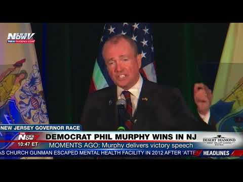 FNN: Democrat Phil Murphy Victory Speech in New Jersey 2017 Governor Race