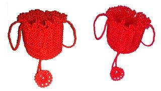 পুতির বাটুয়া ব্যাগ  batuya bag(2nd part)  putir bag  beaded bag  putir kaj  hater kaj  Diy craft