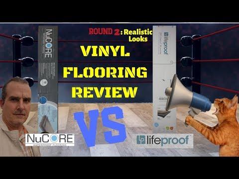 Waterproof Vinyl Flooring Review Nucore or Lifeproof - Best Looking Vinyl Floor - Round 2