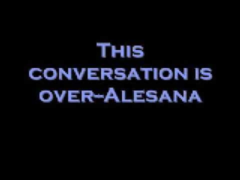 alesana this conversation is over