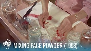 Mixing Face Powder: Retro Cosmetics (1958) | British Pathé thumbnail