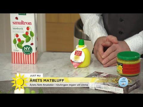 Matbluffar  S jag kper siffror, vatten och frg? - Nyhetsmorgon (TV4)
