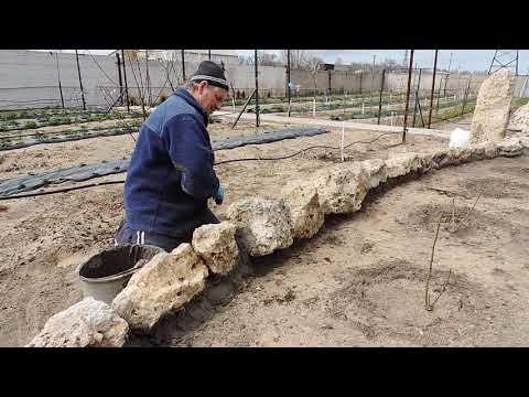 как  сделать  клумбу  из  натурального  камня  мастер  класс
