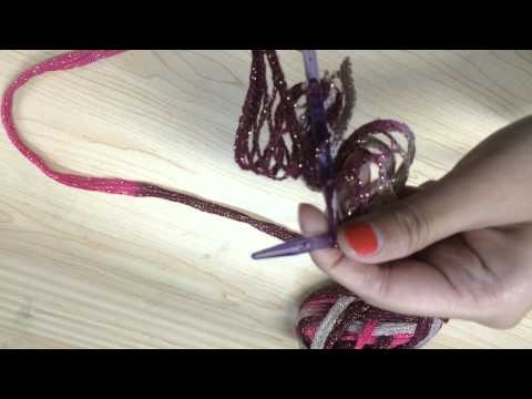 How To Knit Fishnet Yarn 【From Charmkey】