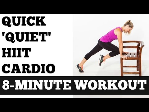 8-Minute Quick 'Quiet' HIIT (High Intensity Interval Training) Cardio Workout No Equipment