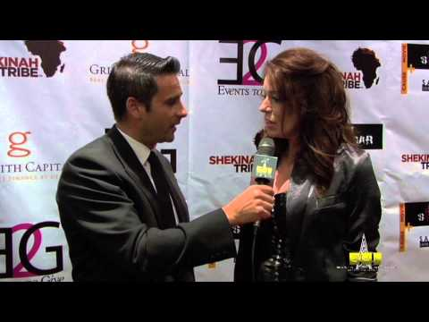 April Diamond Lose Control EDM Red Carpet Interview with Gavin Schofield Smith at Charity Event